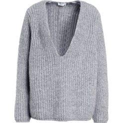 Swetry klasyczne damskie: CLOSED Sweter grey heather melange