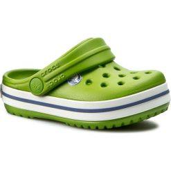 Klapki CROCS - Crocband Kids 10998 Parrot Green/White. Zielone klapki chłopięce marki Crocs, z tworzywa sztucznego. W wyprzedaży za 119,00 zł.