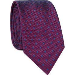 Krawat KWAR001649. Niebieskie krawaty męskie Giacomo Conti, w geometryczne wzory, z mikrofibry. Za 69,00 zł.