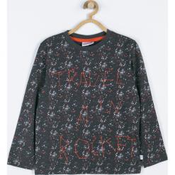 Koszulka. Szare t-shirty chłopięce z długim rękawem Cosmic, z aplikacjami, z bawełny. Za 45,90 zł.