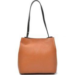 Torebki i plecaki damskie: Skórzana torebka w kolorze jasnobrązowym – (S)28 x (W)31 x (G)14 cm