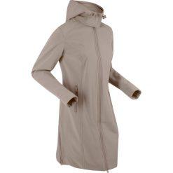 Płaszcze damskie pastelowe: Płaszcz softshell bonprix brunatny