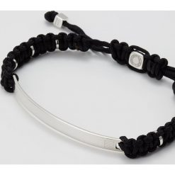 Bransoletki męskie: Tateossian MACRAME Bransoletka black/silvercoloured