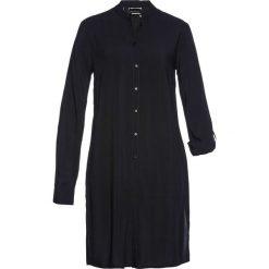 Długa  bluzka bonprix czarny. Czarne bluzki asymetryczne bonprix, z długim rękawem. Za 89,99 zł.