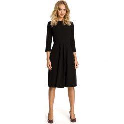 Sukienki: Czarna Sukienka z Dołem w Kontrafałdy