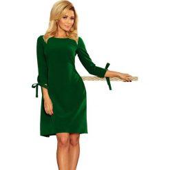 Jasnozielona Sukienka z Kokardkami i Paskiem. Zielone sukienki balowe marki Molly.pl, na imprezę, m, w paski, rozkloszowane. Za 158,90 zł.