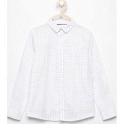 Odzież dziecięca: Koszula z printem z podwijanymi rękawami - Biały