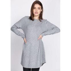 Swetry klasyczne damskie: Szary Sweter Chronology