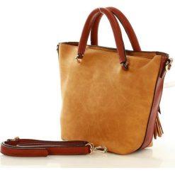 Kuferki damskie: NOBO Stylowa torebka mini kuferek żółty