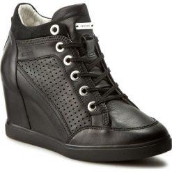 Sneakersy GEOX - D Eleni C D7267C 00085 C9999 Czarny. Czarne sneakersy damskie Geox, z materiału. W wyprzedaży za 359,00 zł.