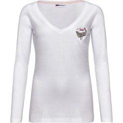 """Koszulka """"Dalia"""" w kolorze białym. Białe bluzki longsleeves Nebulus, s. W wyprzedaży za 86,95 zł."""
