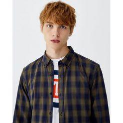 Koszula basic w kratkę vichy. Szare koszule męskie w kratę Pull&Bear, m. Za 79,90 zł.