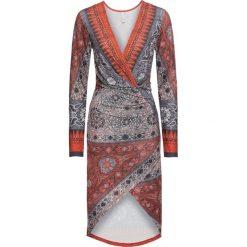 Sukienki: Sukienka bonprix pomarańczowo-szary
