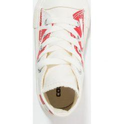 Converse CHUCK TAYLOR ALL STAR INFANT YOUTH Tenisówki i Trampki wysokie natural/enamel red/egret. Białe trampki chłopięce marki Converse, z materiału. Za 209,00 zł.
