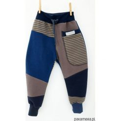 Spodnie chłopięce: PATCH PANTS spodnie 104 - 152 cm szary & prążki