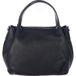 Torebki klasyczne damskie: Skórzana torebka w kolorze czarnym – 28 x 25 x 18 cm
