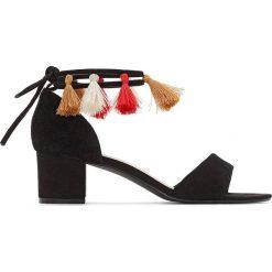 Rzymianki damskie: Sandały z ozdobnymi pomponikami, odpowiednie na szeroką stopę 38-45
