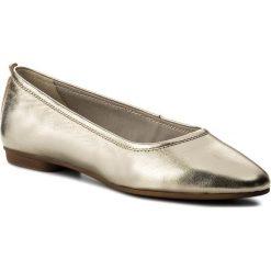 Baleriny VAGABOND - Sandy 4503-183-81 Gold. Żółte baleriny damskie marki Kazar, ze skóry, na wysokim obcasie, na obcasie. W wyprzedaży za 229,00 zł.