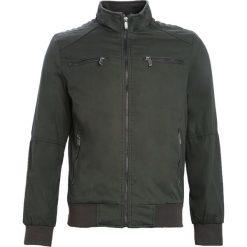 Ciemnozielona Kurtka Stressed Out. Czarne kurtki męskie marki Born2be, l, z aplikacjami, z dresówki. Za 119,99 zł.