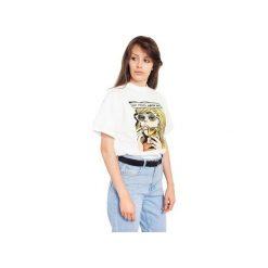 T-SHIRT NOT YOURS, NEVER WAS. Białe t-shirty damskie Rebeka, l, z nadrukiem. Za 49,00 zł.