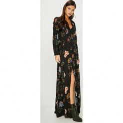Answear - Sukienka. Szare długie sukienki ANSWEAR, na co dzień, s, z tkaniny, casualowe, rozkloszowane. W wyprzedaży za 219,90 zł.
