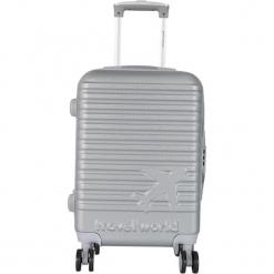 Walizka w kolorze srebrnym - 44 l. Szare walizki Teddy Bear, z materiału. W wyprzedaży za 169,95 zł.