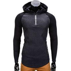 BLUZA MĘSKA Z KAPTUREM B675 - GRAFITOWA. Szare bluzy męskie rozpinane marki Lacoste, z gumy, na sznurówki, thinsulate. Za 49,00 zł.