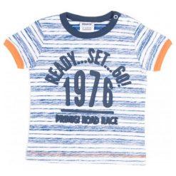 Primigi T-Shirt Chłopięcy 74 Niebieski. Niebieskie t-shirty chłopięce marki Primigi. W wyprzedaży za 49,00 zł.