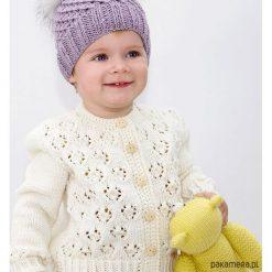 Swetry dziewczęce: Sweter Ażurowy Merynos Dziecięcy