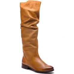 Kozaki MACIEJKA - 03848-29/00-6 Rudy. Brązowe buty zimowe damskie Maciejka, z materiału, przed kolano, na wysokim obcasie, na obcasie. Za 449,00 zł.
