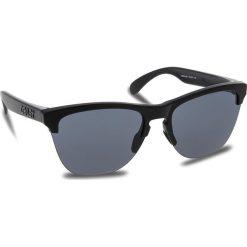 Okulary przeciwsłoneczne OAKLEY - Frogskins Lite OO9374-0163 Matte Black/Grey. Szare okulary przeciwsłoneczne damskie lenonki marki ORAO. W wyprzedaży za 379,00 zł.