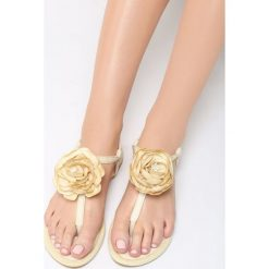 Żółte Sandały Self-Obsession. Żółte sandały damskie marki Kazar, ze skóry, na wysokim obcasie, na obcasie. Za 59,99 zł.