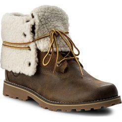Trapery TIMBERLAND - 6 In Wp Shearling Bo A1BXZ/TB0A1BXZD261 Dark. Brązowe buty zimowe damskie marki Timberland, z gumy. W wyprzedaży za 369,00 zł.