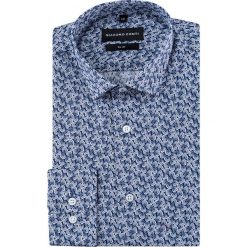 Koszula SIMONE KDWS000243. Czarne koszule męskie na spinki marki Premium by Jack&Jones, l, z bawełny, z włoskim kołnierzykiem, z długim rękawem. Za 169,00 zł.