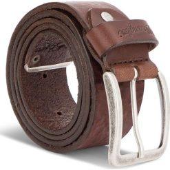 Pasek Męski WRANGLER - Metal Tip Belt W0B60U185 85 Brown. Brązowe paski męskie Wrangler, w paski, ze skóry. W wyprzedaży za 159,00 zł.