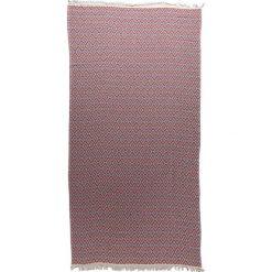 Chusta hammam w kolorze czerwono-niebieskim - 200 x 140 cm. Czarne chusty damskie marki Hamamtowels, z bawełny. W wyprzedaży za 87,95 zł.