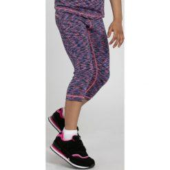 Buty sportowe dziewczęce: Legginsy sportowe dla małych dziewczynek JLEG300 - MULTIKOLOR MELANŻ