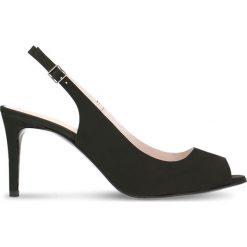 Sandały OLIVIA. Czarne sandały damskie Gino Rossi, w paski, z nubiku, na wysokim obcasie, na szpilce. Za 219,90 zł.