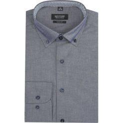 Koszula bexley 2823 długi rękaw slim fit granatowy. Szare koszule męskie slim marki Recman, na lato, l, w kratkę, button down, z krótkim rękawem. Za 139,00 zł.