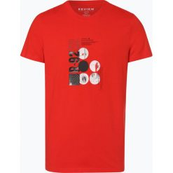 Review - T-shirt męski, czerwony. Niebieskie t-shirty męskie z nadrukiem marki Review. Za 59,95 zł.