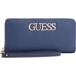 Duży Portfel Damski GUESS - SWVG68 76460  BLUE. Niebieskie portfele damskie marki Guess, z aplikacjami, ze skóry ekologicznej. Za 279,00 zł.