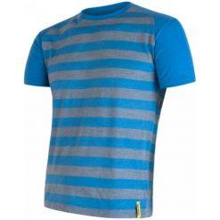 Odzież termoaktywna męska: Sensor Koszulka Termoaktywna Merino Wool Active M Paski Blue S