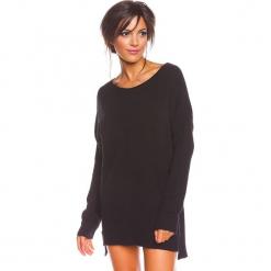 """Sweter """"Louina"""" w kolorze czarnym. Czarne swetry oversize damskie marki So Cachemire, s, z kaszmiru. W wyprzedaży za 173,95 zł."""
