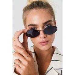 NA-KD Accessories Sześciokątne okulary przeciwsłoneczne - Black. Czarne okulary przeciwsłoneczne damskie lenonki marki NA-KD Accessories. Za 52,95 zł.