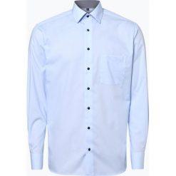 Eterna Modern Fit - Koszula męska niewymagająca prasowania, niebieski. Niebieskie koszule męskie na spinki marki Eterna Modern Fit, m, z klasycznym kołnierzykiem. Za 149,95 zł.