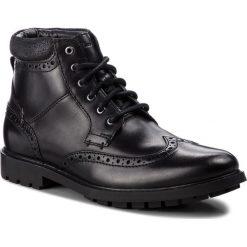 Kozaki CLARKS - Curington Rise 261368537  Blk Smooth Leather. Czarne botki męskie Clarks, z materiału. Za 399,00 zł.