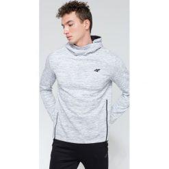 Bluzy męskie: Bluza męska BLM214 – szary melanż – 4F