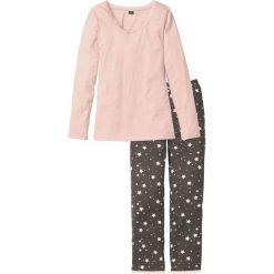 Piżamy damskie: Piżama bonprix pastelowy jasnoróżowy – dymny różowy w paski
