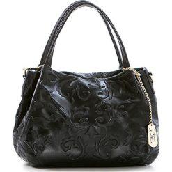 Torebki klasyczne damskie: Skórzana torebka w kolorze czarnym – 28 x 20 x 12 cm