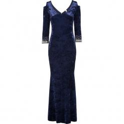 Sukienka wieczorowa z perłami bonprix błękit królewski. Niebieskie sukienki koktajlowe marki Reserved. Za 239,99 zł.